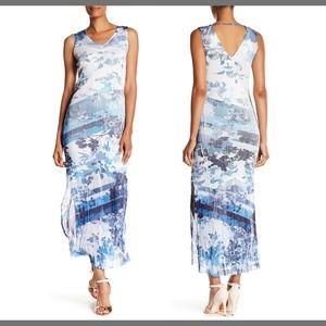 NWT KOMAROV Striped Crinkled Tank Dress Large